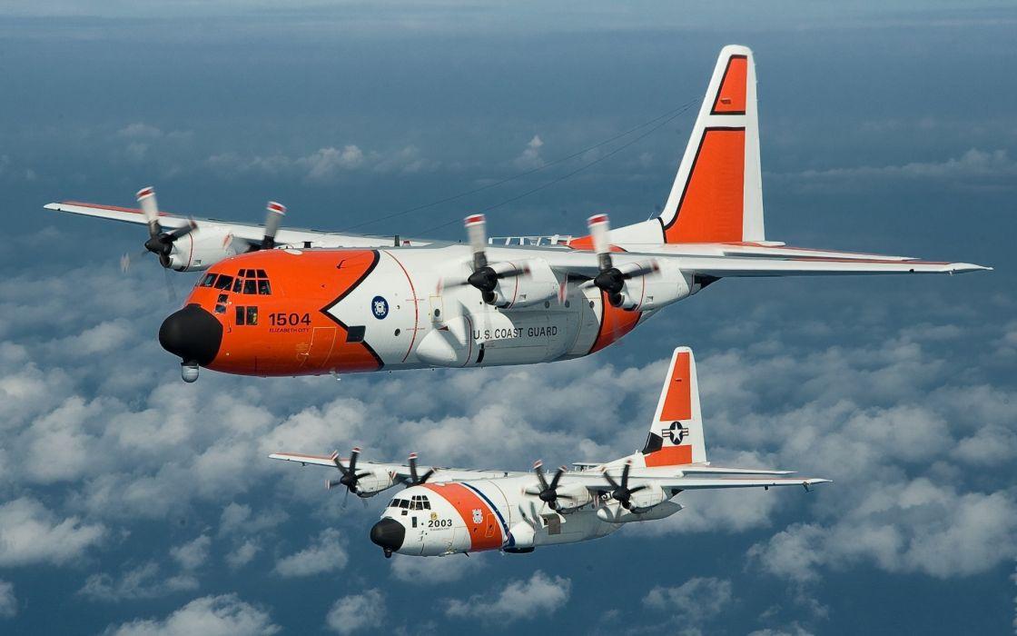 aircraft flight transport coast gaurd military wallpaper