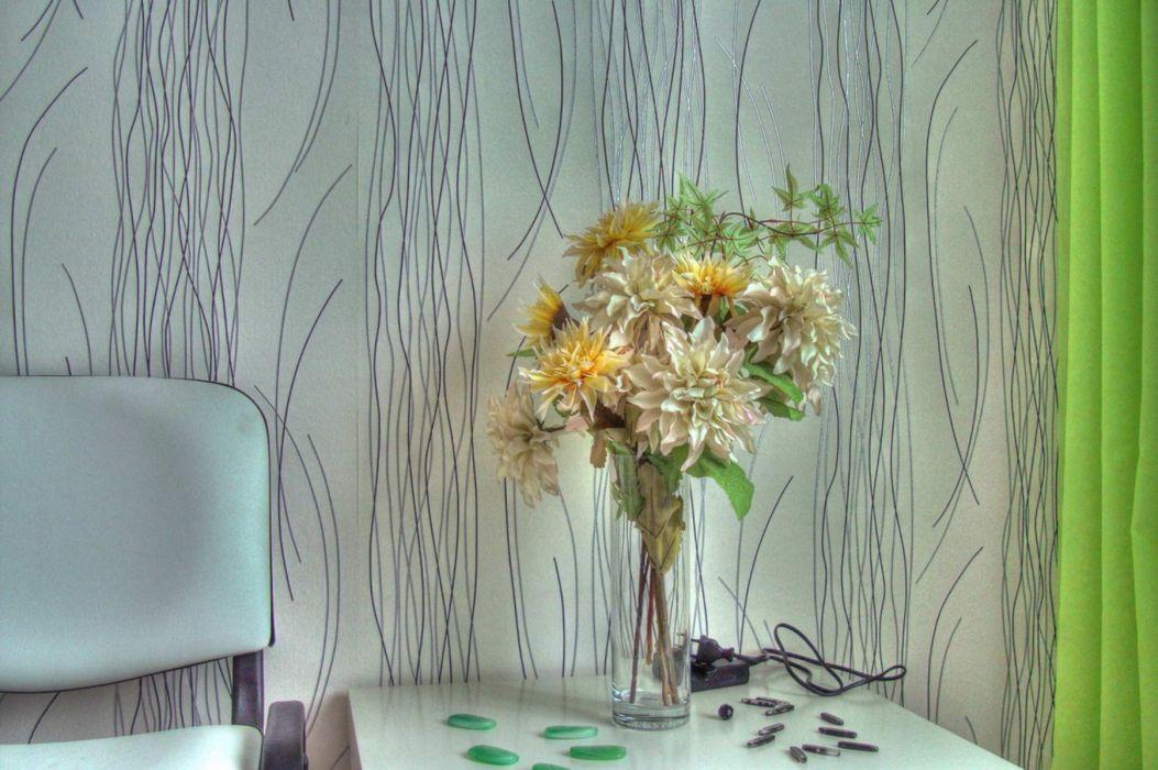 interior flowers green wallpaper
