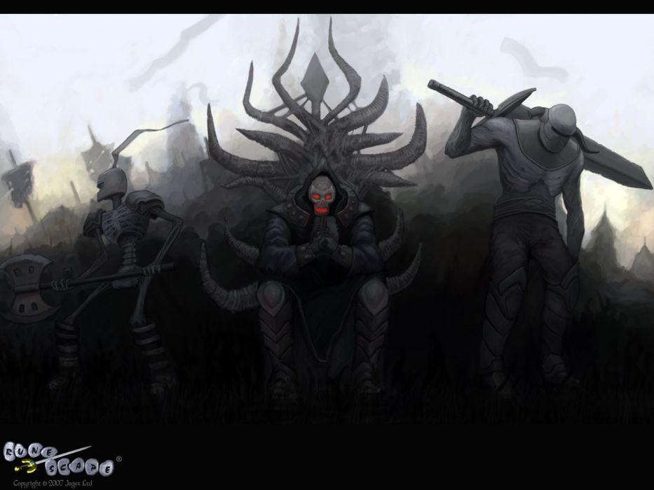 RUNESCAPE fantasy adventure dark warrior skull wallpaper