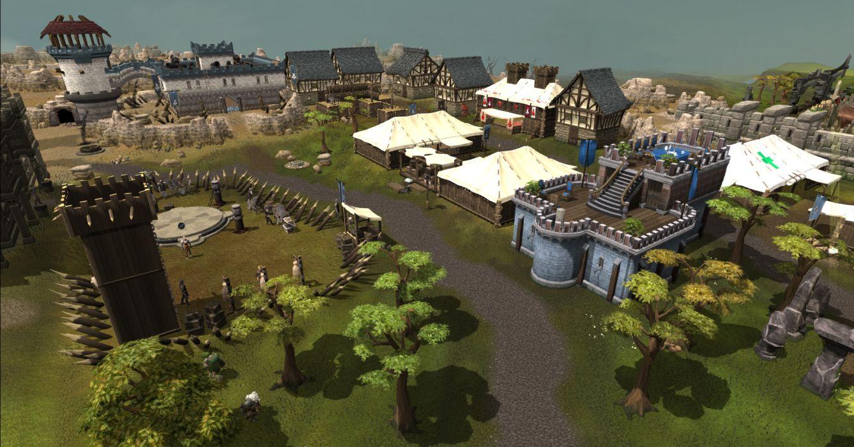 RUNESCAPE fantasy adventure landscape village city wallpaper
