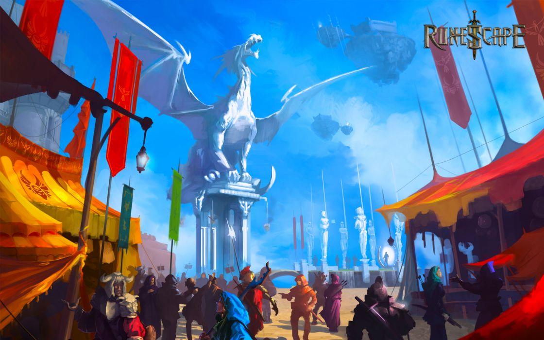 RUNESCAPE fantasy adventure dragon city wallpaper