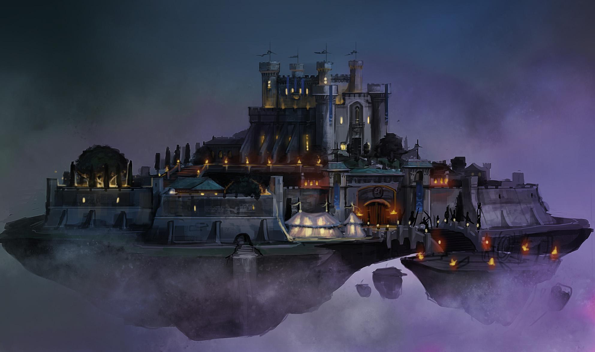 RUNESCAPE fantasy adventure city island castle wallpaper