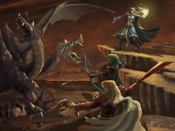 RUNESCAPE fantasy adventure battle warrior dragon magic wallpaper