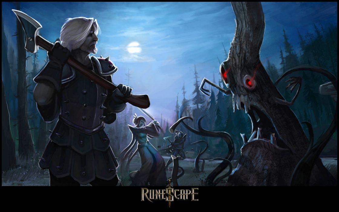 RUNESCAPE fantasy adventure dark demon warrior wallpaper