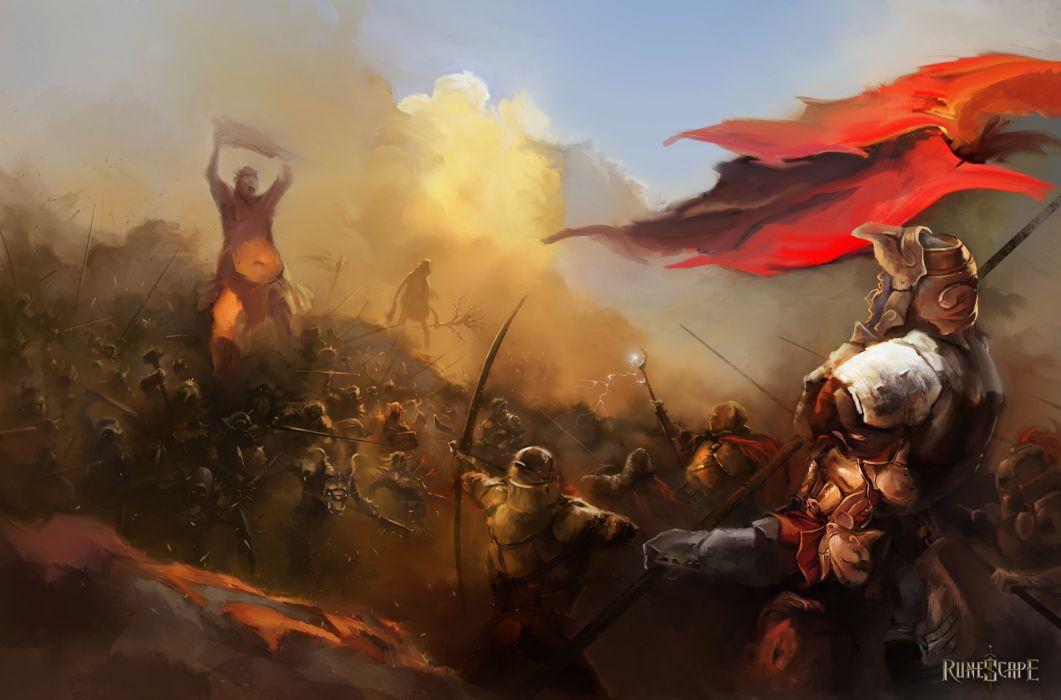 RUNESCAPE fantasy adventure monster battle warrior wallpaper