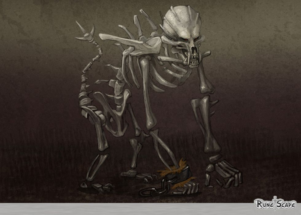 RUNESCAPE fantasy adventure monster monkey dark skeleton wallpaper