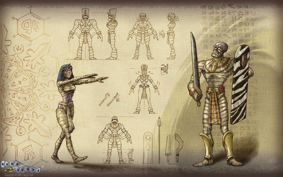 RUNESCAPE fantasy adventure mummy monster wallpaper