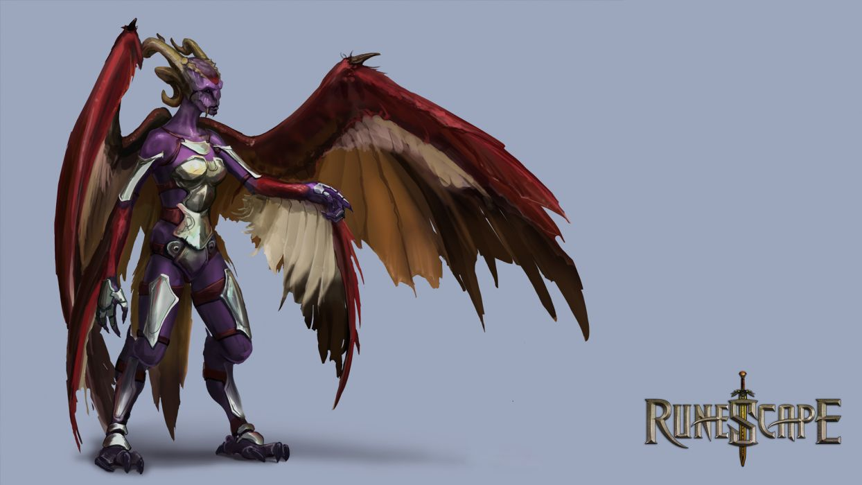 RUNESCAPE fantasy adventure monster demon dark wallpaper