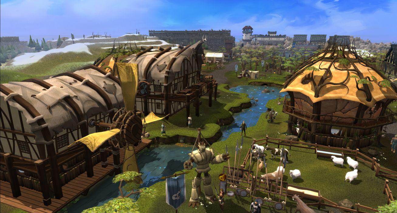 RUNESCAPE fantasy adventure village building wallpaper
