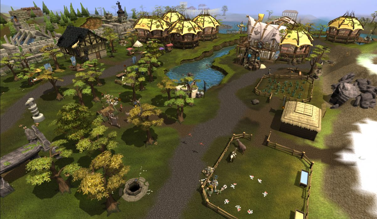 RUNESCAPE fantasy adventure map village building wallpaper