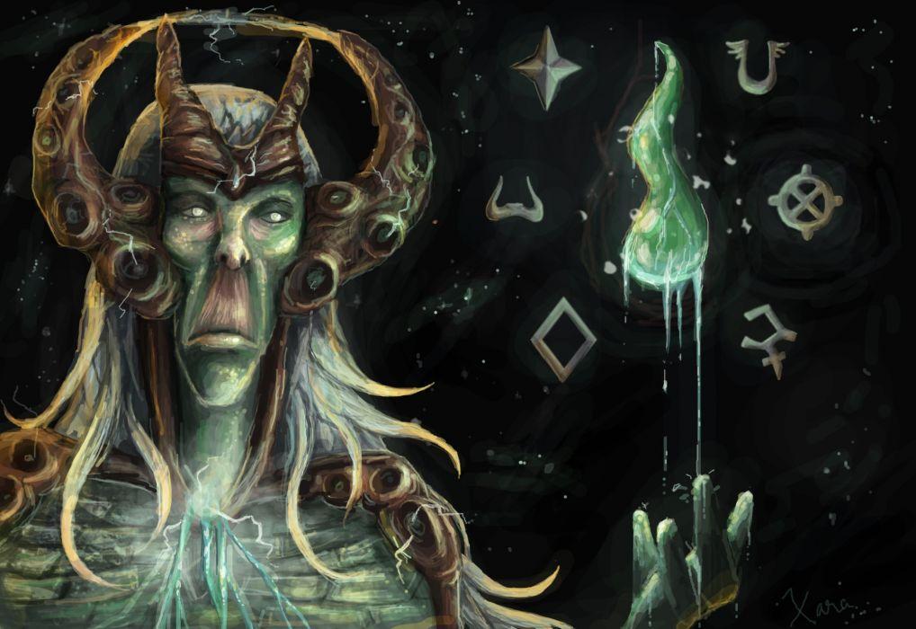 RUNESCAPE fantasy adventure dark wizard witch demon occult druid wallpaper
