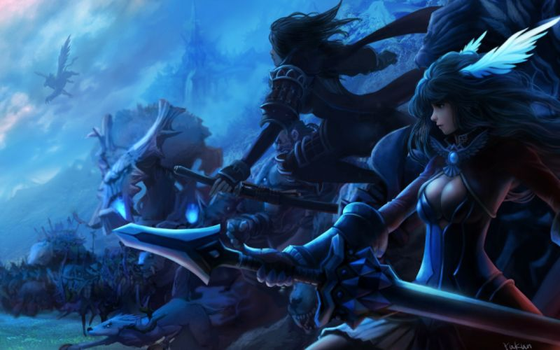 LAND OF CHAOS ONLINE fantasy warrior wallpaper