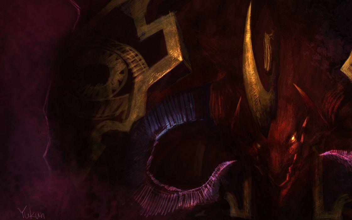 LAND OF CHAOS ONLINE fantasy dark demon monster wallpaper
