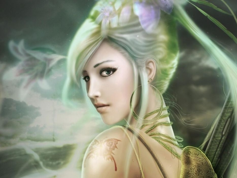 LAND OF CHAOS ONLINE fantasy girl wallpaper