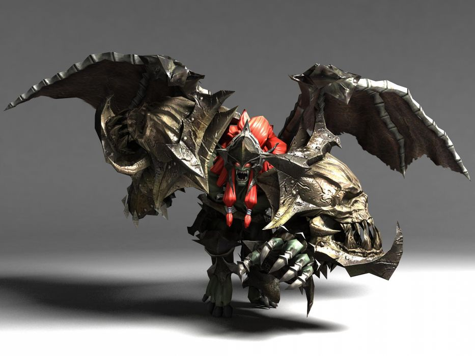 LAND OF CHAOS ONLINE fantasy monster demon dark warrior wallpaper