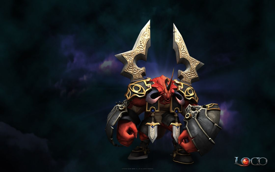 LAND OF CHAOS ONLINE fantasy warrior wallpaper