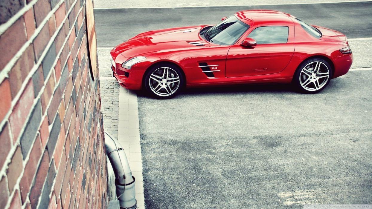 Red Mercedes Benz SLS AMG wallpaper
