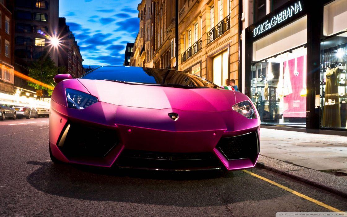 Lamborghini Aventador LP760 4 Pink wallpaper