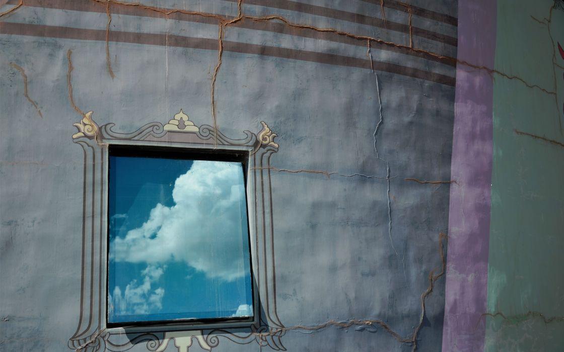 surreal textures cracks skies windows  wallpaper