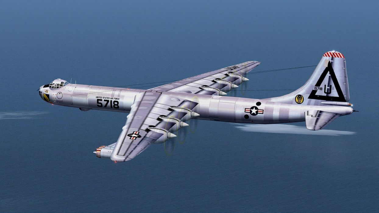 bomber artwork United States Air Force B-36 Peacemaker Flight Simulator 2004 wallpaper
