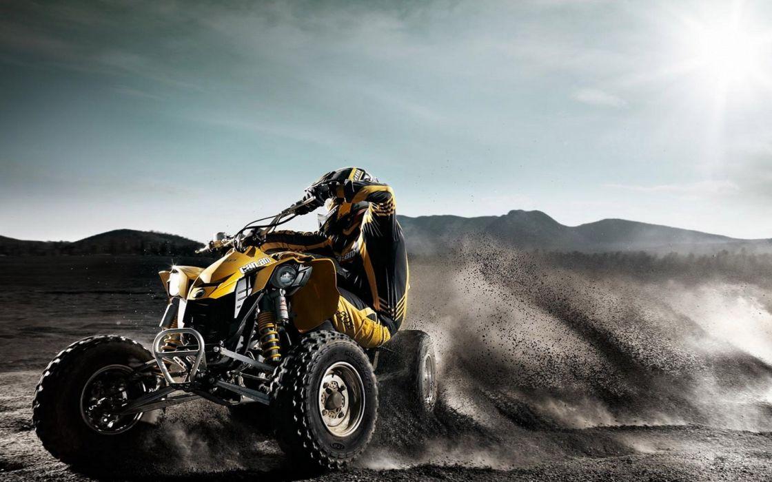 dirt quad vehicles ATV offroad brp wallpaper