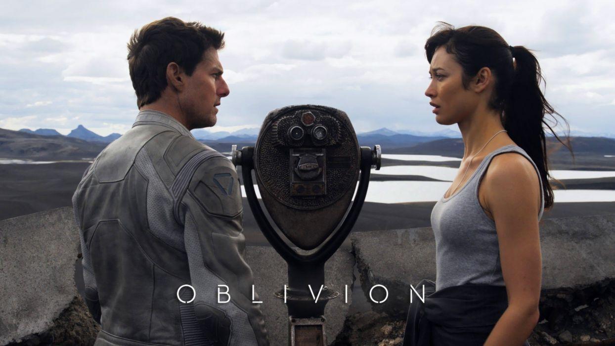 Jack Julia Olga Kurylenko Tom Cruise Oblivion - movie Harper wallpaper