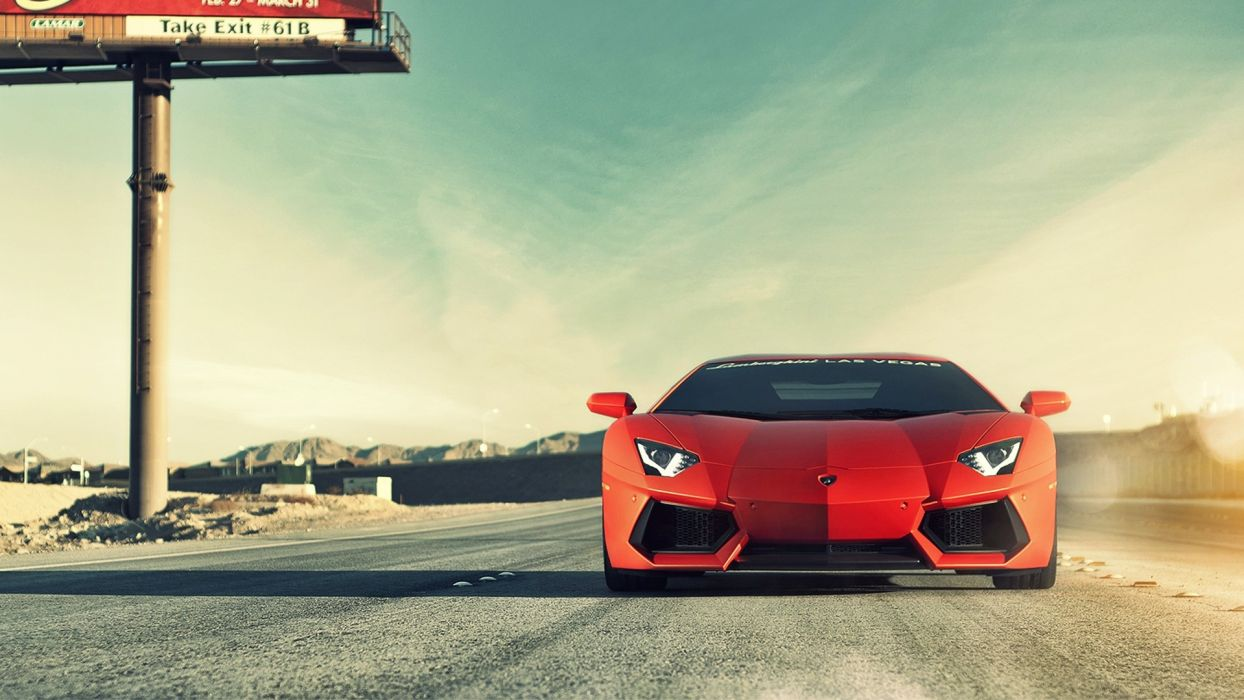 cars Lamborghini roads vehicles Lamborghini Aventador LP700-4 wallpaper