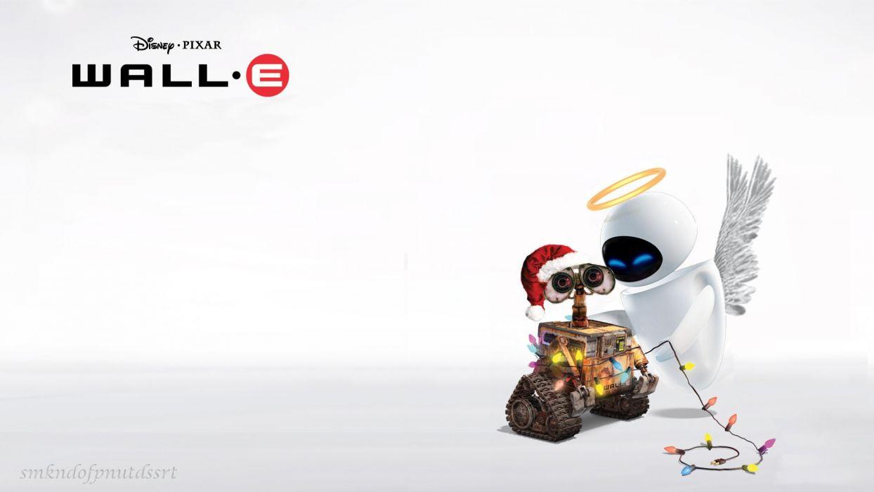 Wall-E Christmas wallpaper
