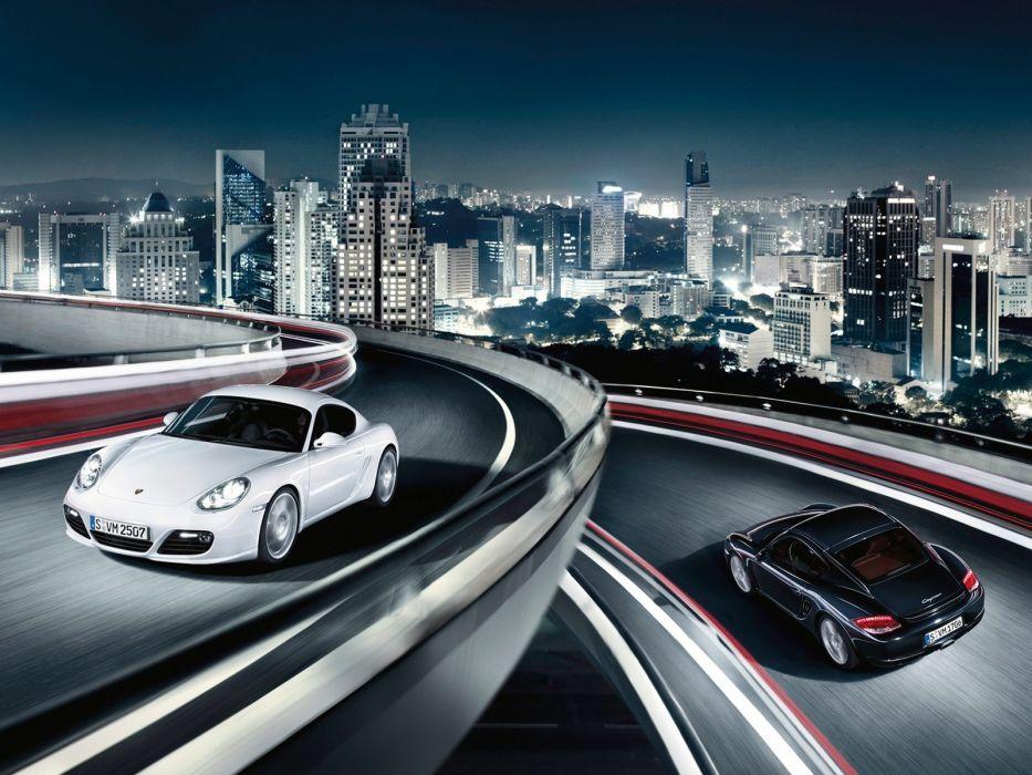cityscapes cars roads Porsche Cayman S wallpaper