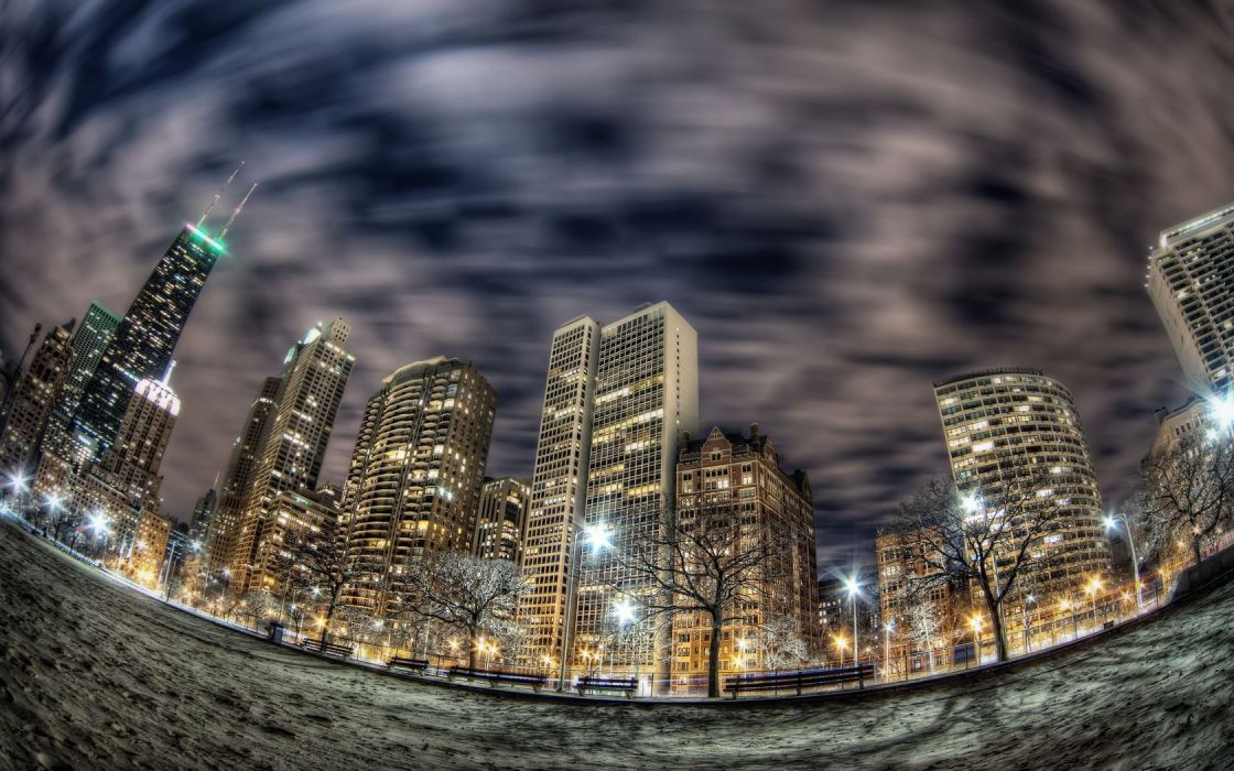 cityscapes HDR photography fisheye effect wallpaper