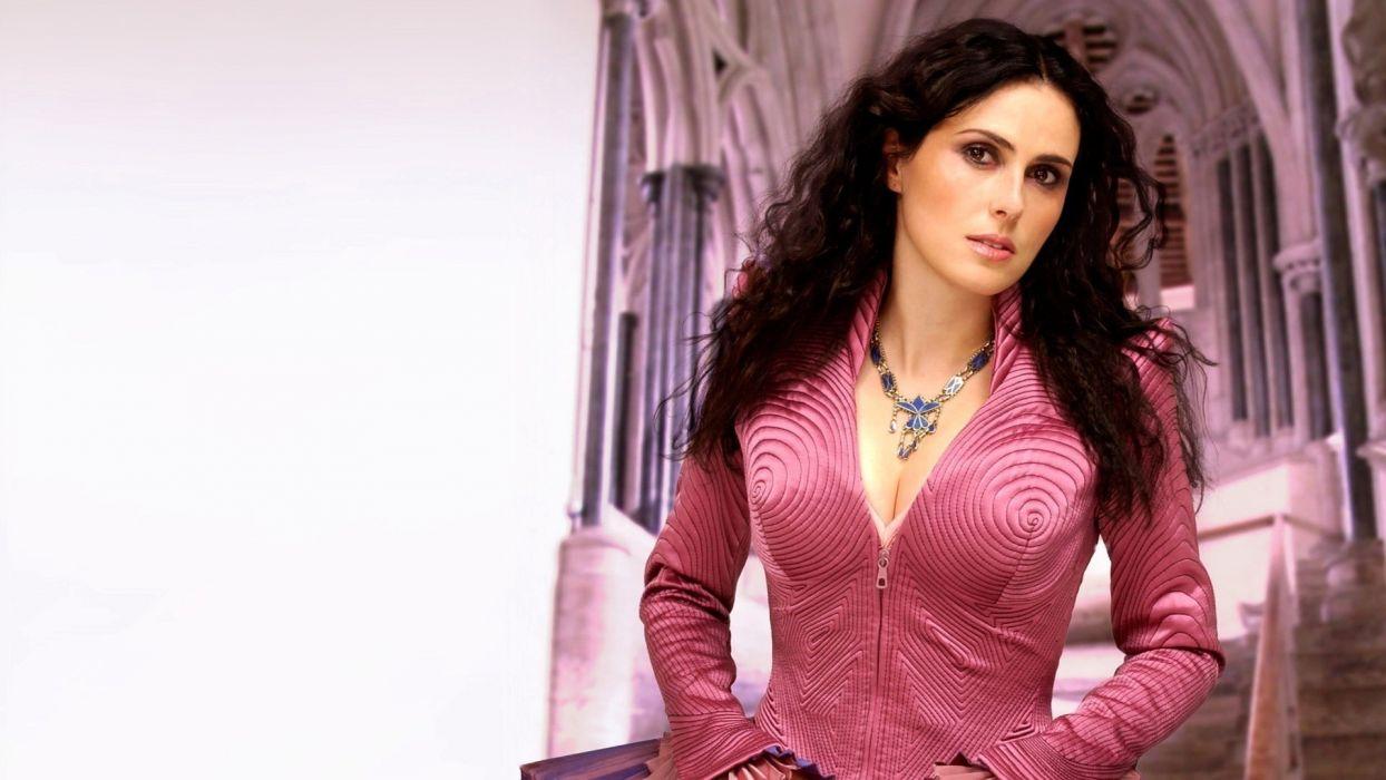 brunettes women Sharon Den Adel Within Temptation wallpaper