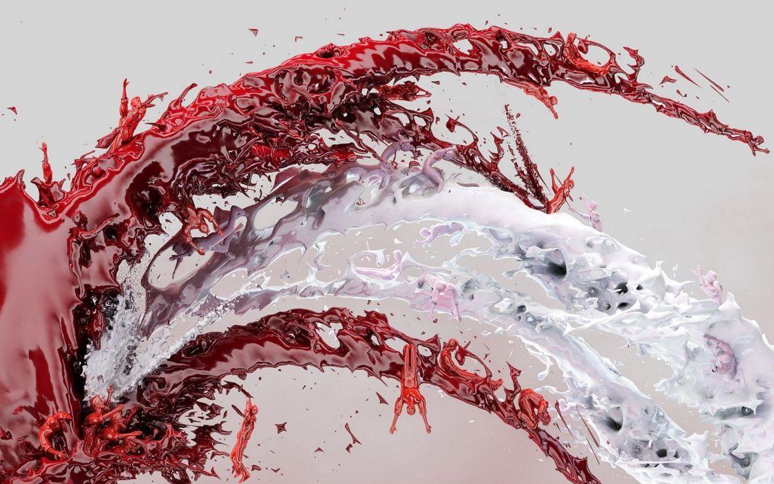 abstract liquid wallpaper