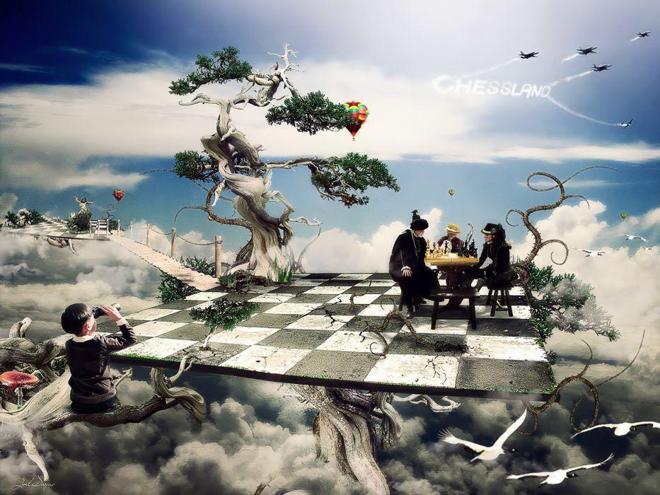 chess digital art wallpaper