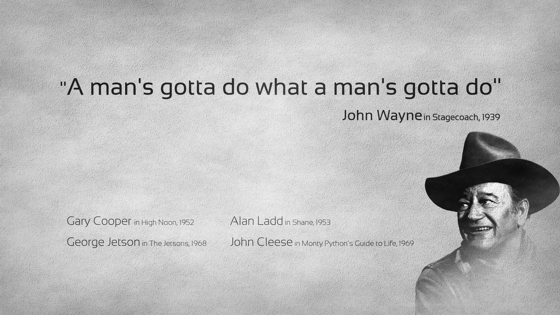 Gray Quotes Men Actors John Wayne Wallpaper 1920x1080 221049 Wallpaperup