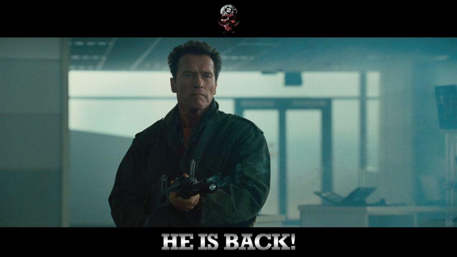 guns Arnold Schwarzenegger The Expendables action wallpaper
