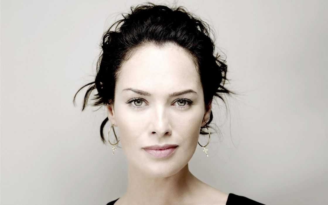 brunettes women actress Lena Headey faces portraits wallpaper