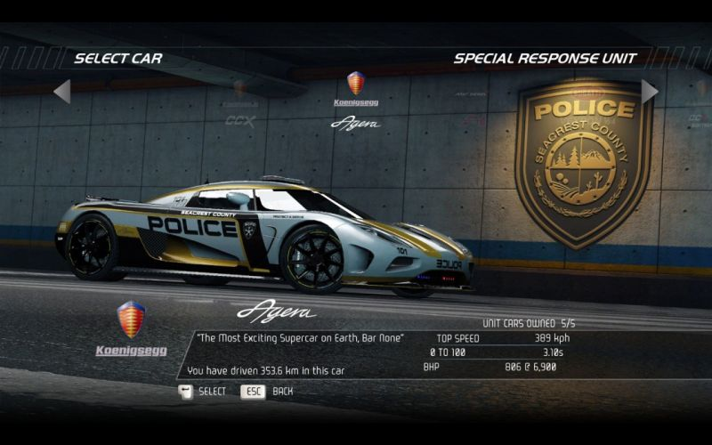 video games cars police Koenigsegg Agera Need for Speed Hot Pursuit pc games wallpaper