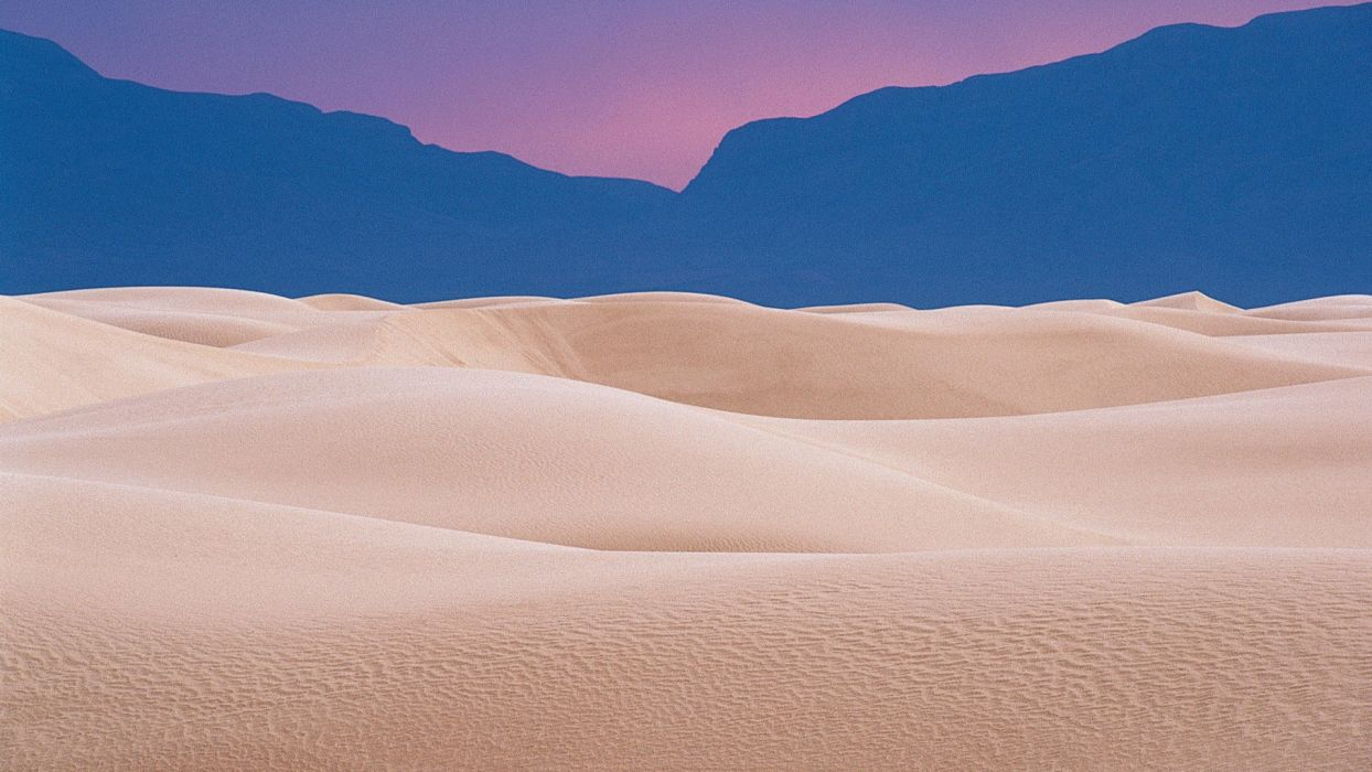 white national New Mexico dunes evening wallpaper