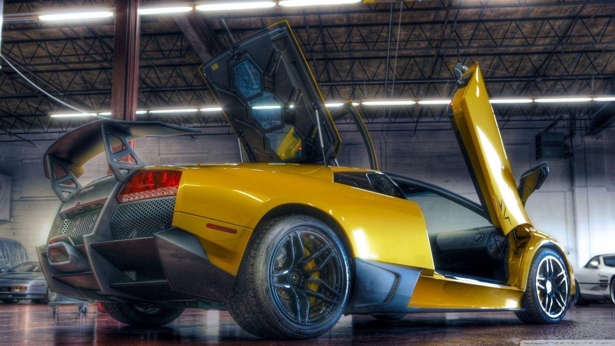Yellow Lamborghini HDR wallpaper