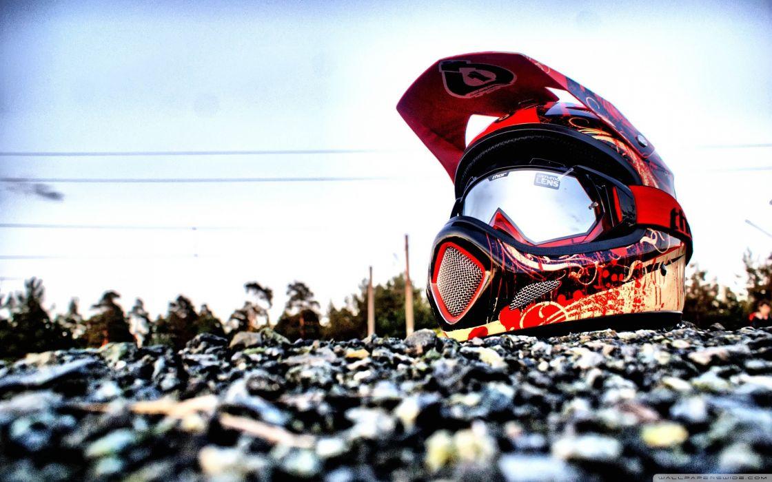 Downhill Biking Helmet wallpaper