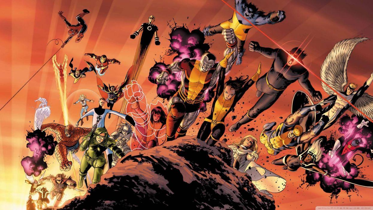 Superheroes Cartoons wallpaper