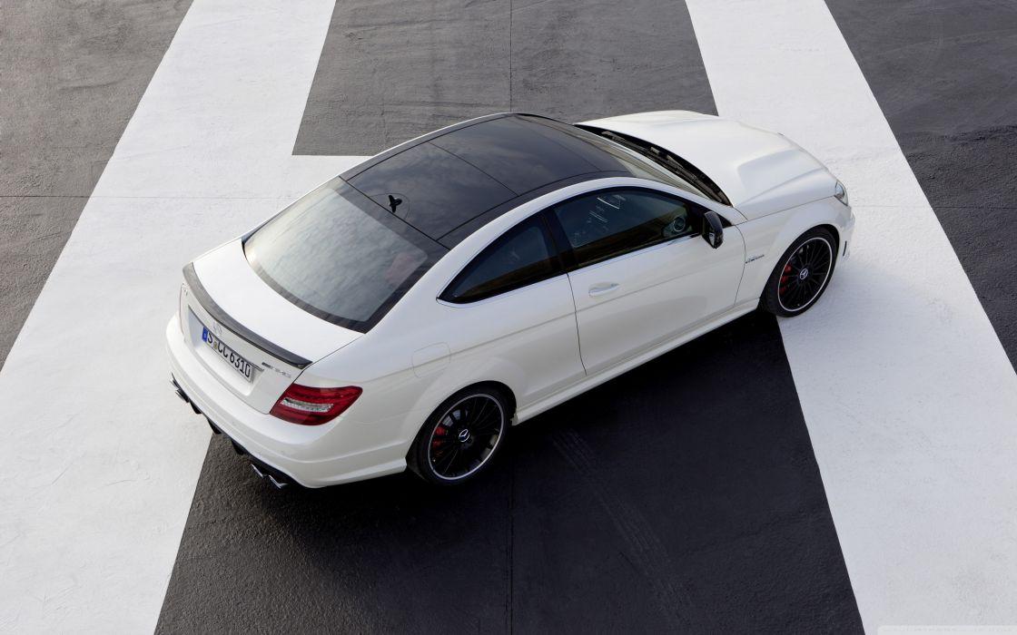 Mercedes Benz C63 AMG Coupe Rear wallpaper