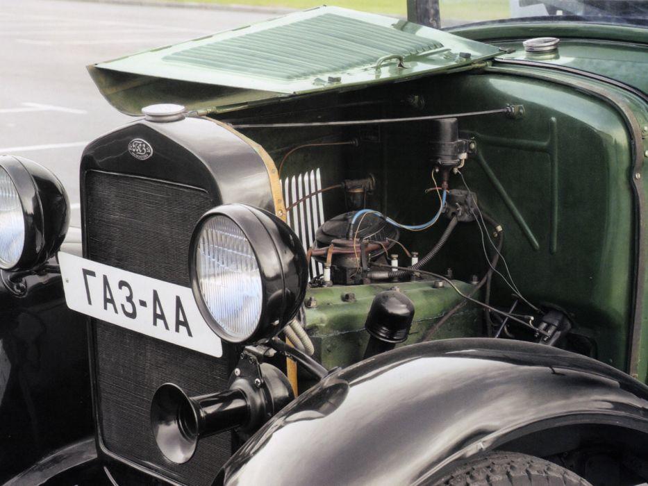 1932-38 GAZ A-A pickup retro semi tractor engine   f wallpaper