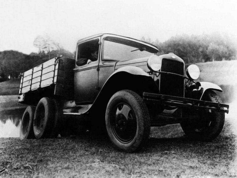 1934-43 GAZ AAA retro pickup semi tractor        g wallpaper