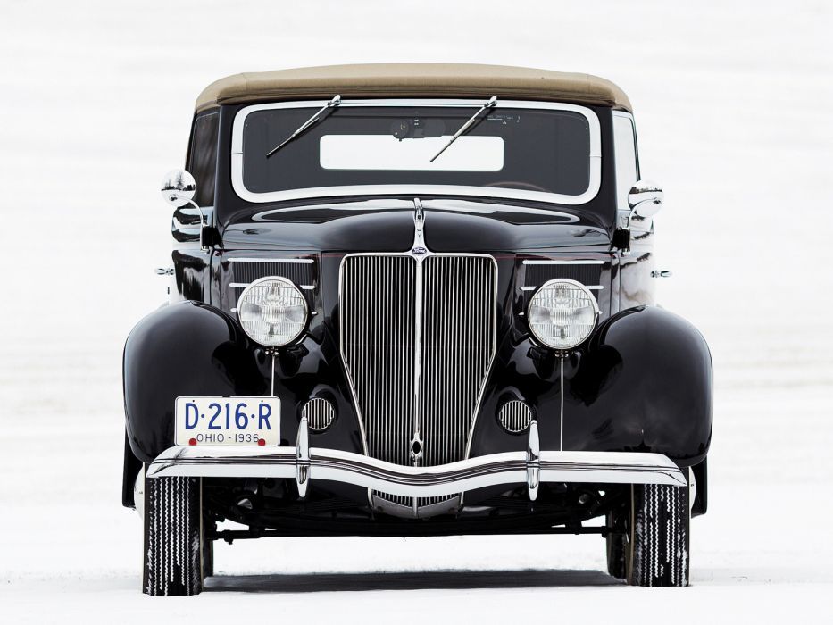 1936 Ford V8 Deluxe Convertible Coupe (68-730) retro v-8  d wallpaper