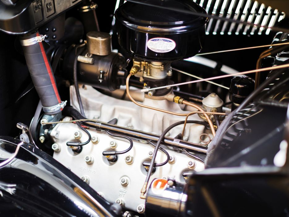 1936 Ford V8 Deluxe Convertible Coupe (68-730) retro v-8 engine      g wallpaper