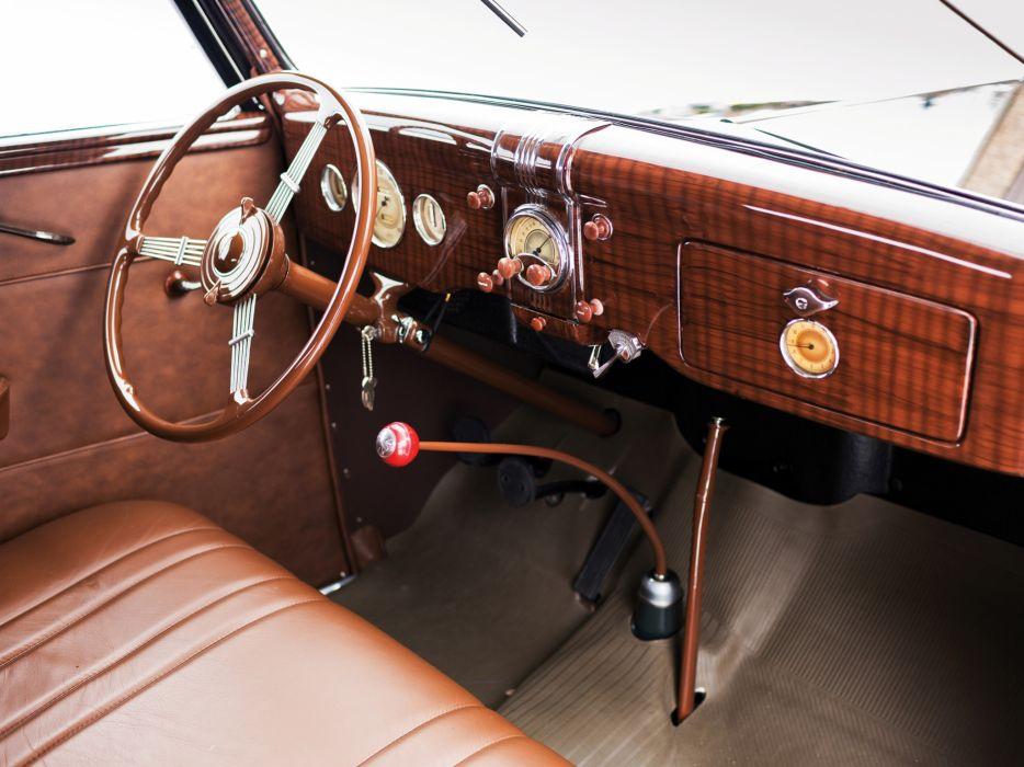 1936 Ford V8 Deluxe Convertible Coupe (68-730) retro v-8 interior  n wallpaper