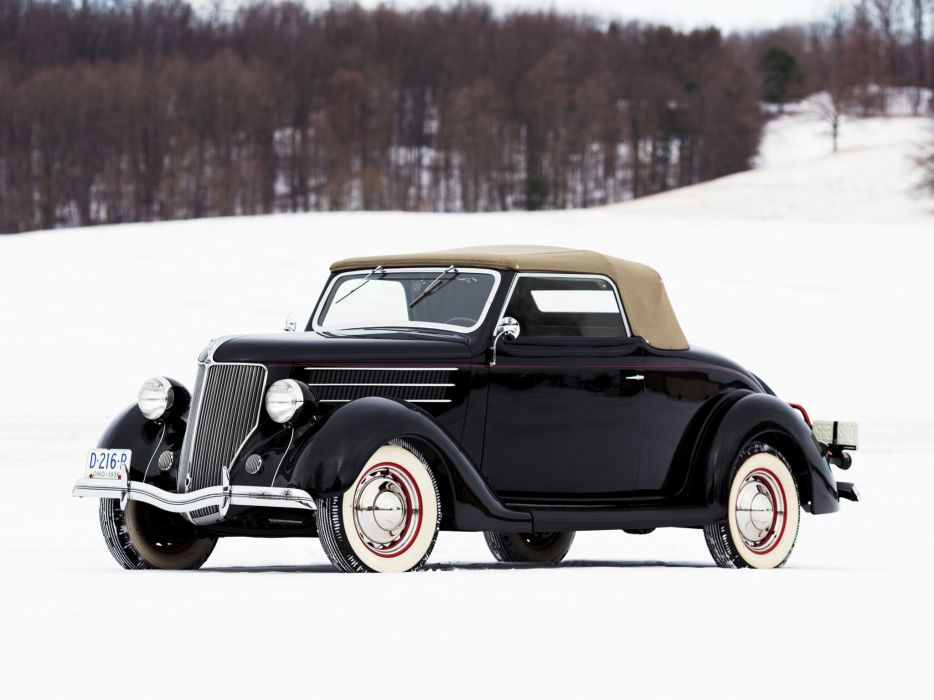 1936 Ford V8 Deluxe Convertible Coupe (68-730) retro v-8      g wallpaper