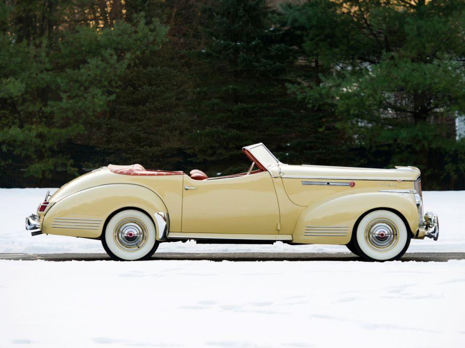 1941 Packard 180 Super Eight Convertible Victoria Darrin (1906-1429) luxury retro r wallpaper
