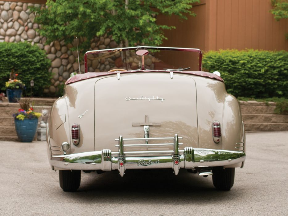 1941 Packard 180 Super Eight Convertible Victoria Darrin (1906-1429) luxury retro no wallpaper